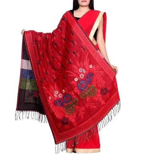 Red Wool Shawl
