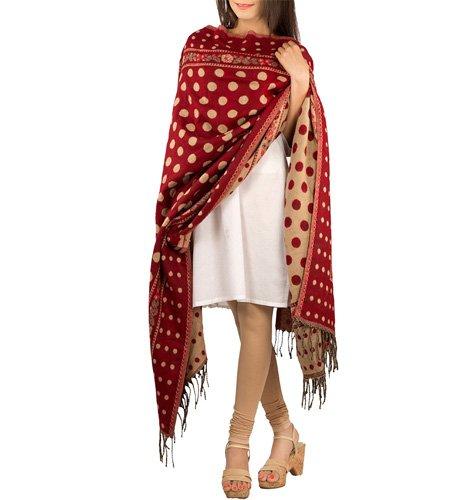 Red Woolen Shawl