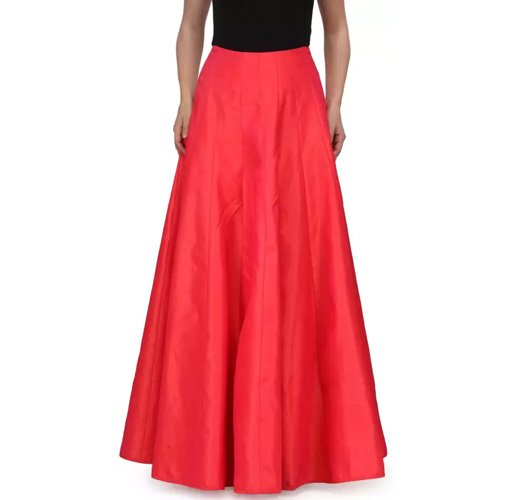Something Different Solid Women's A-line Red Skirt