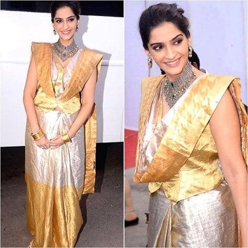 Sonam Kapoor in Hemang Agarwal Saree