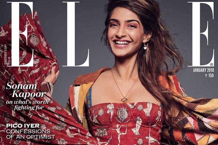 Sonam Kapoor on Elle January 2018