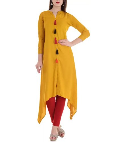 Stylum Festive and Party Solid Women Kurti