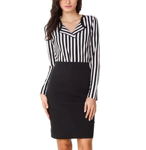 Texco Formal Black Stripe Shirt