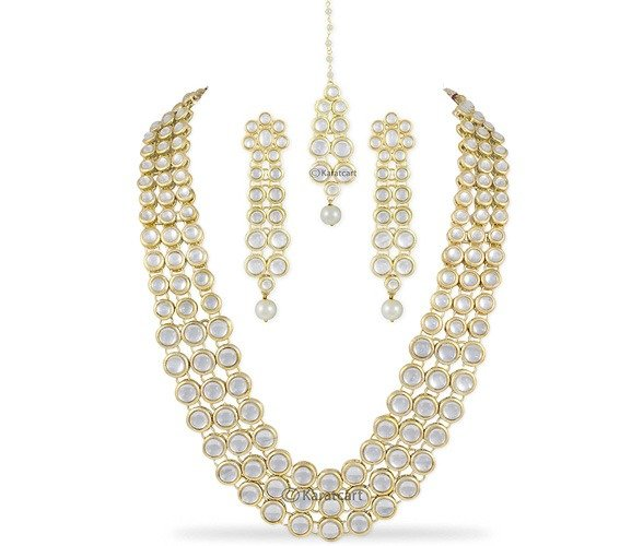Traditional Kundan Pearl Necklace
