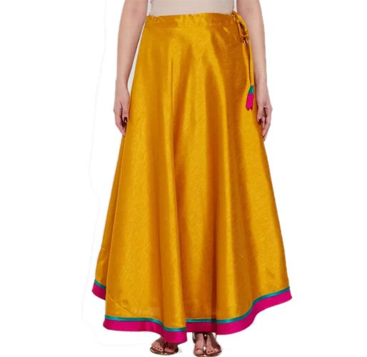 Very Me Solid Women's Pleated Yellow Skirt