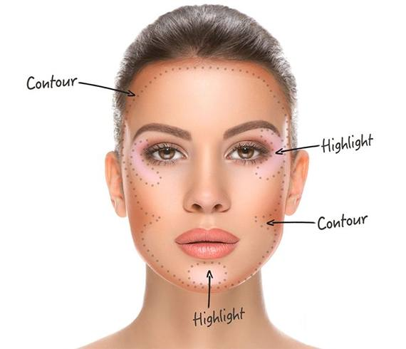 Contour Makeup for Oval Face