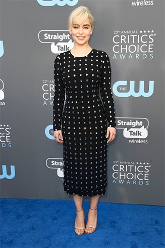 Emilia Clarke at Critics Choice Awards 2018