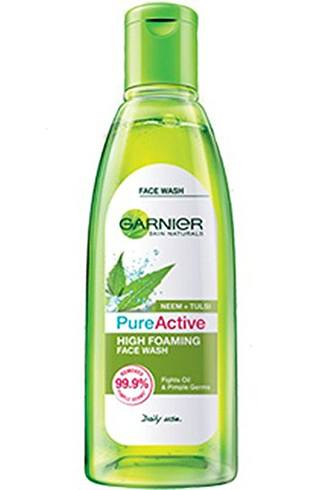 Garnier Pure Active Neem+Tulsi High Foaming Face Wash