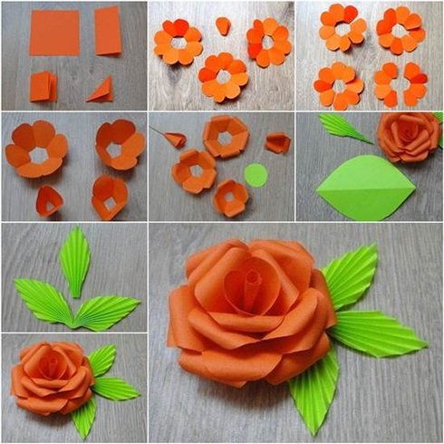 Indian Tricolor Paper Flowers