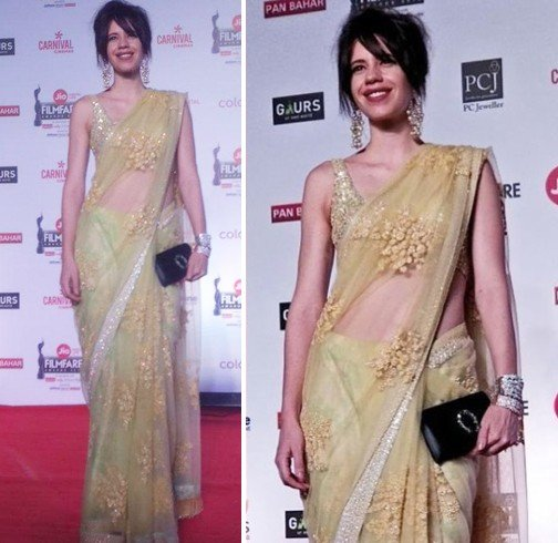 Kalki Koechlin at Jio Filmfare Awards 2018