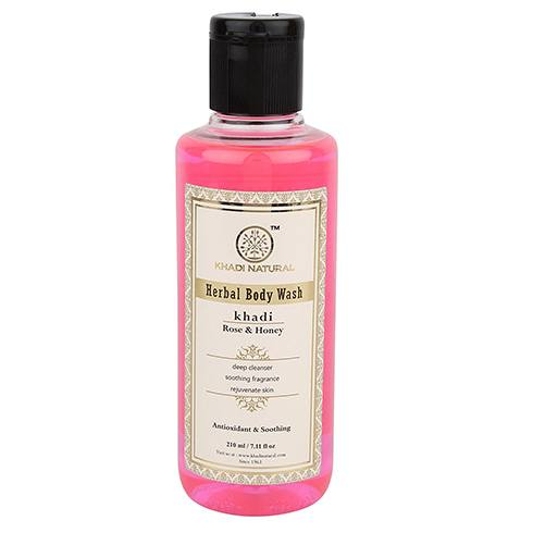 Khadi Herbal Rose And Lemon Body Wash