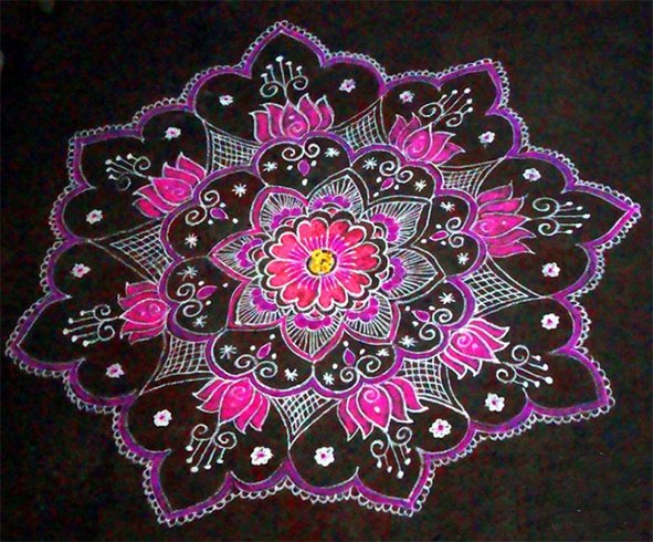 Kolam Designs For Festival