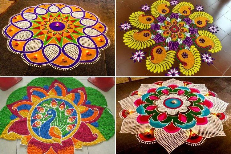 Sankranthi With Kolam Designs