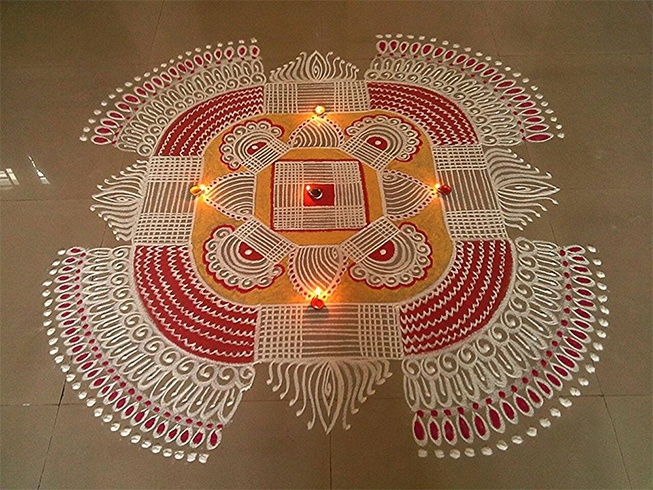 Kolam For Pongal