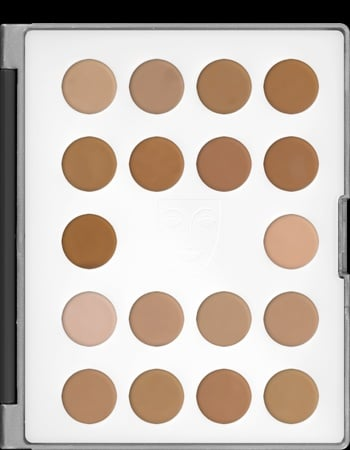 Kryolan HD 18 Micro Cream Foundation Makeup Palette