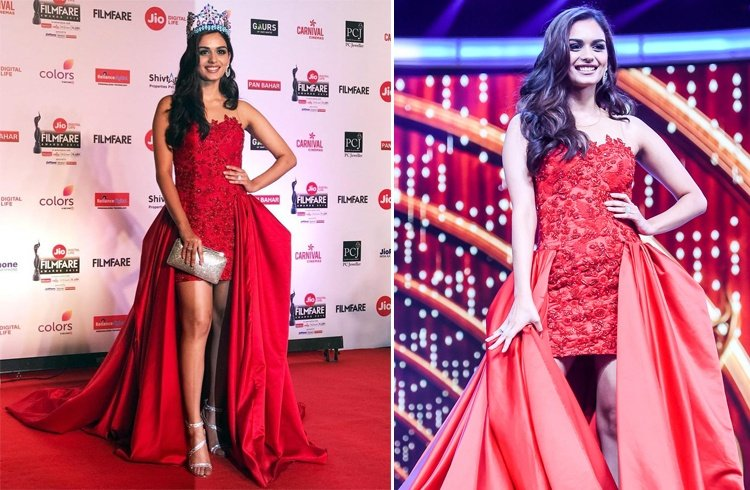 Manushi Chhillar at Jio Filmfare Awards 2018