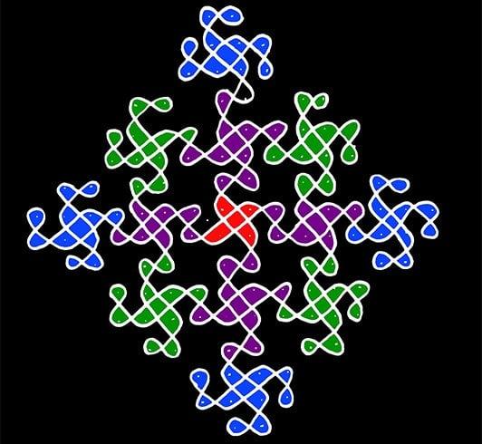 Muggulu Designs with Dots