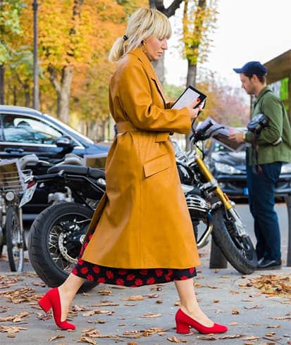 Mustard yellow coat