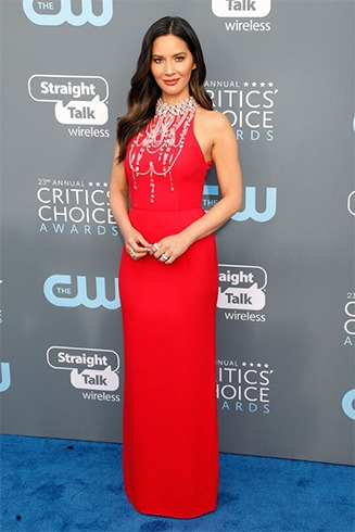 Olivia Munn at Critics Choice Awards 2018