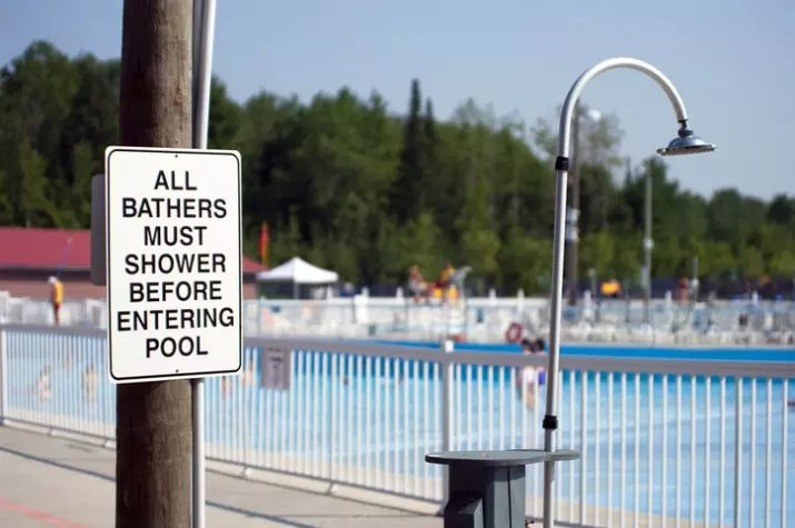 Shower Before You Swim