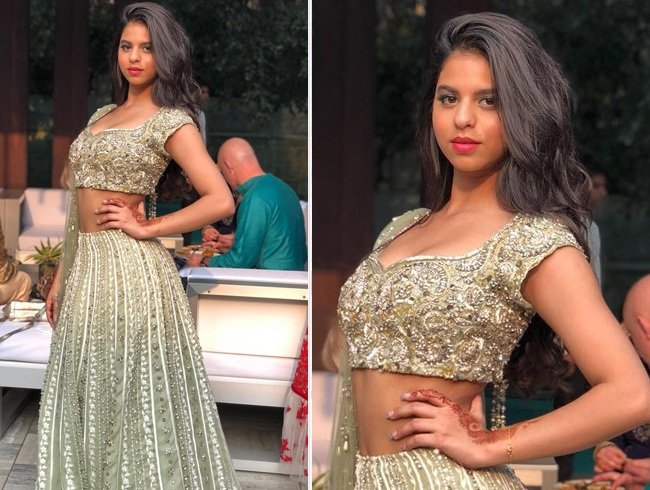 Suhana Khan in Monisha Jaising lehenga