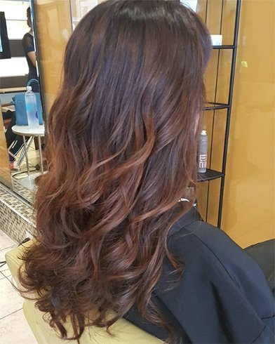 Tousled Curls Partial Perm