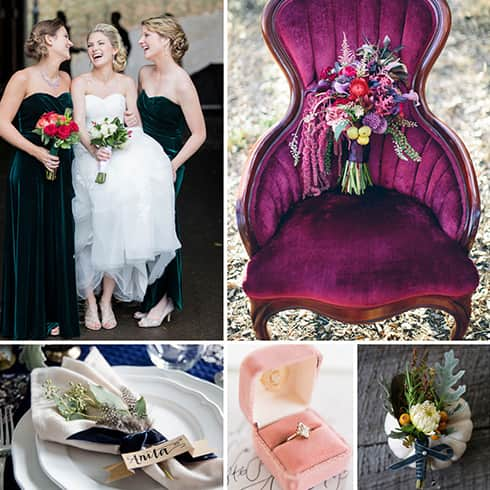 Velvet Wedding Ideas 2018