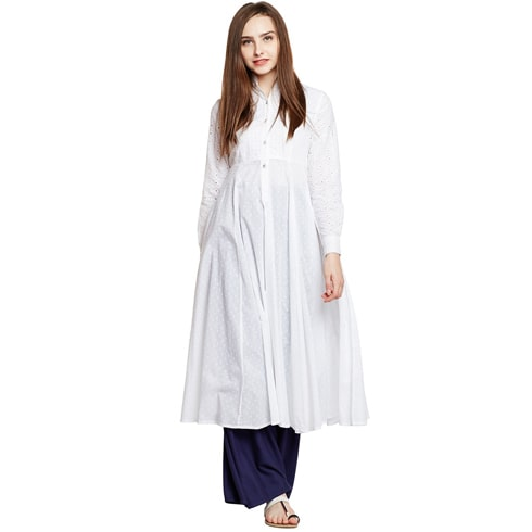 White Chicken Kurta