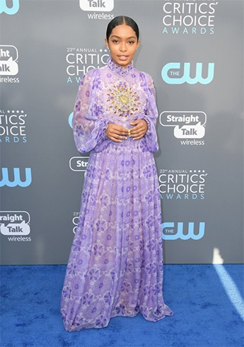 Yara Shahidi at Critics Choice Awards 2018