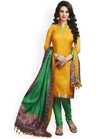 Yellow Dresses For Sankranti