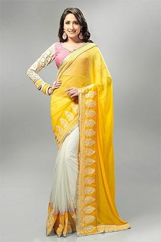 Yellow Sarees And Dresses For Sankranti