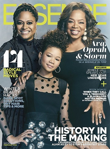 Ava DuVernay, Oprah Winfrey and Storm Reid for Essence