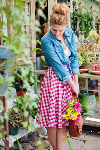 Beautiful Gingham Skirt