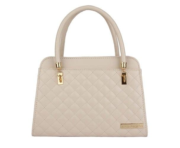 Beige Leatherette Handbag