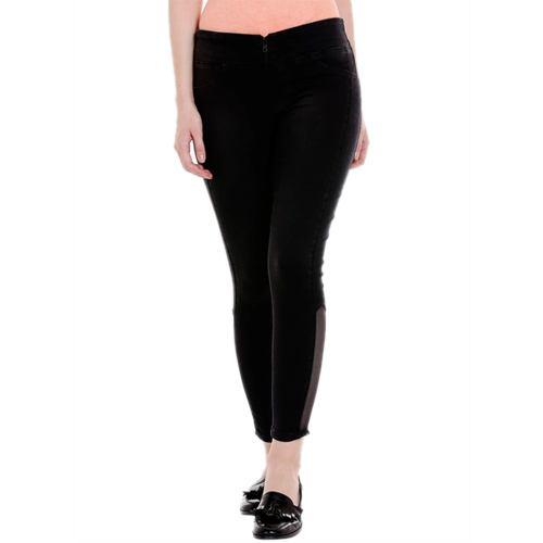 Black Solid Mid Rise Regular Fit Jeans