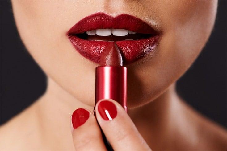 Blue Based Red Lipstick