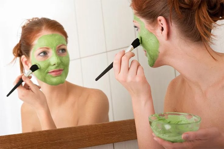 Cabbage face mask
