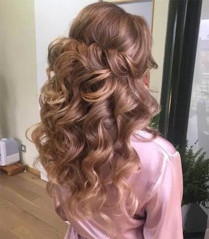 Curly Half Down Tresses