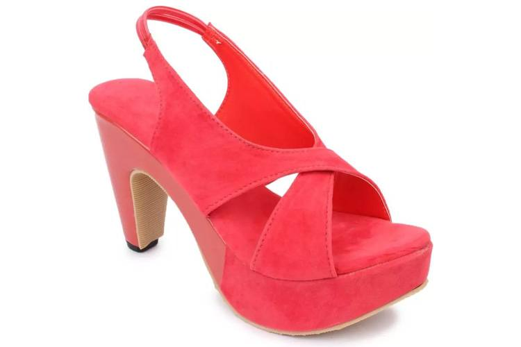 Dajwari Women's Synthetic Leather Red Color Wedges