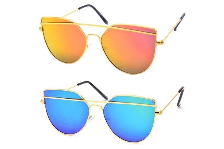 Double-Bar Aviator Unisex Sunglasses