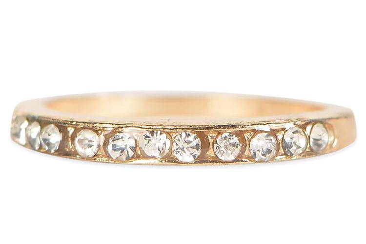 Elegant Gold Crystal Ring