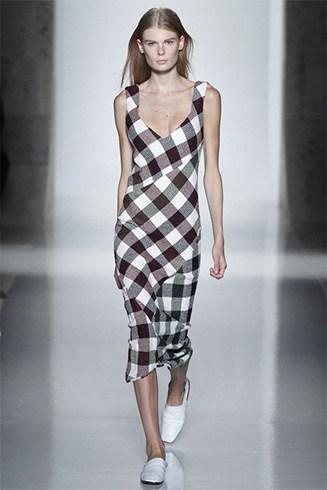 Fashionable Gingham Dress