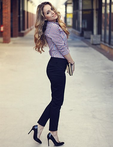 Gingham Outfit To Work