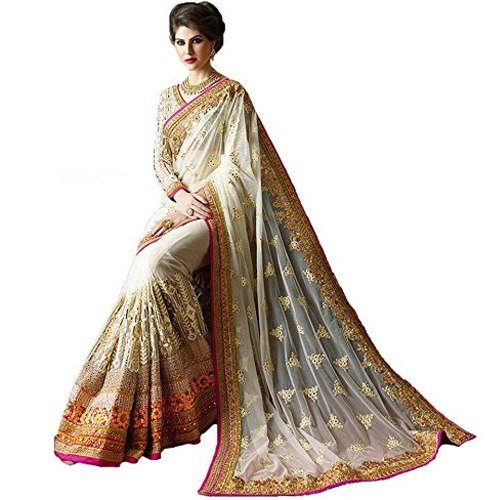 KAMAL Georgette Saree With Blouse Piece