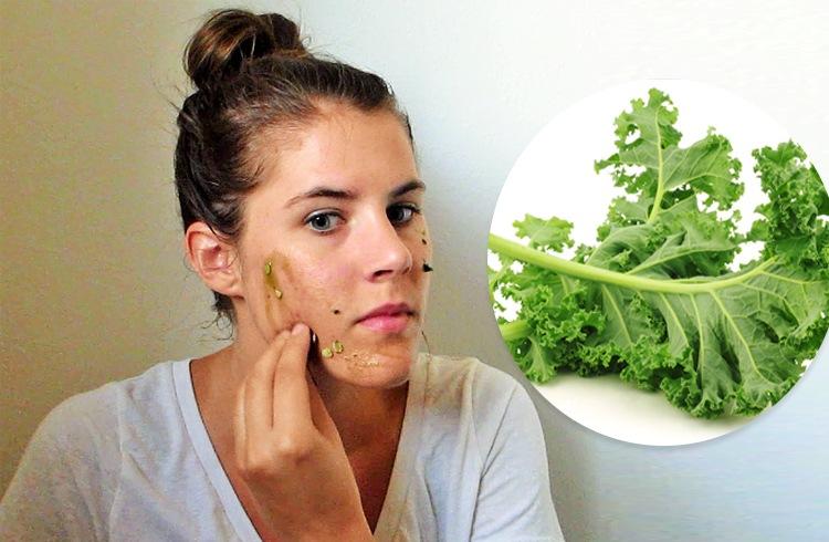 Kale facial mask