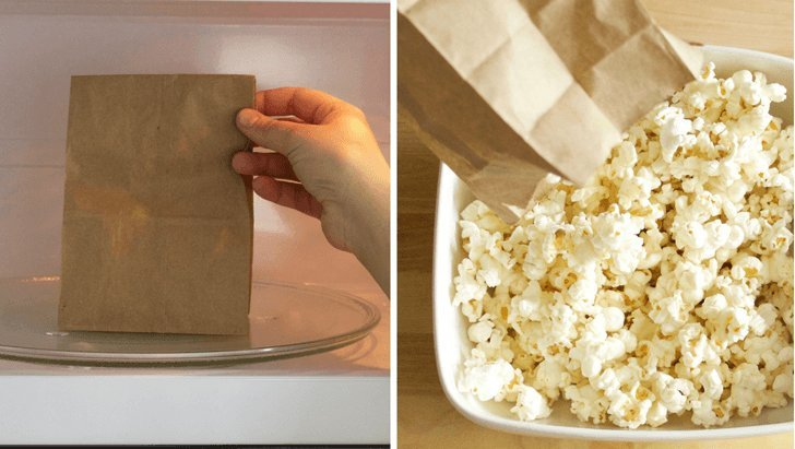 Make Homemade Popcorn With A Paper Bag