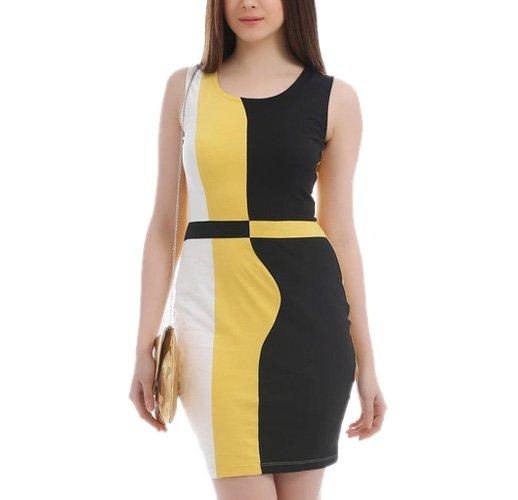 Multicoloured Solid Bodycon Dress