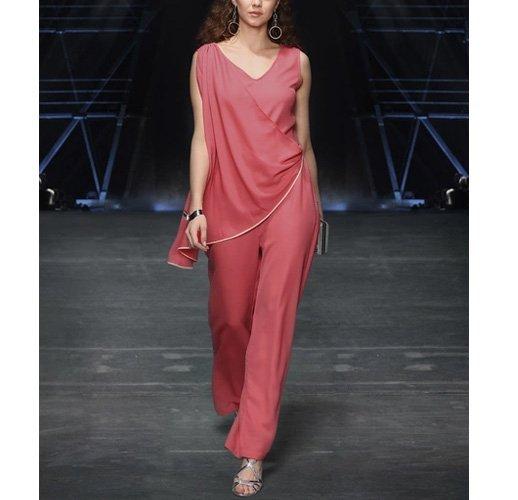 Pink Solid Jumpsuit