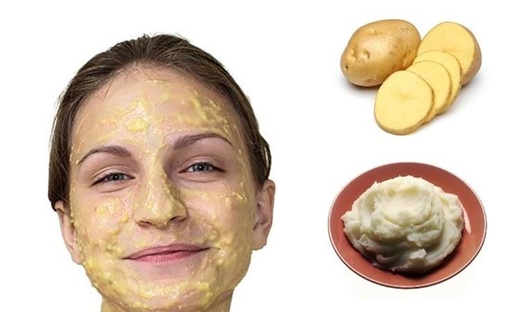 Potato face mask