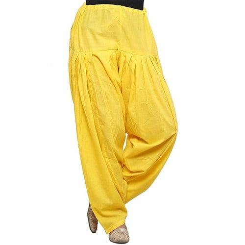 Punjabi Patiala Salwar Bottom Pants Semi-Patiala Salwar